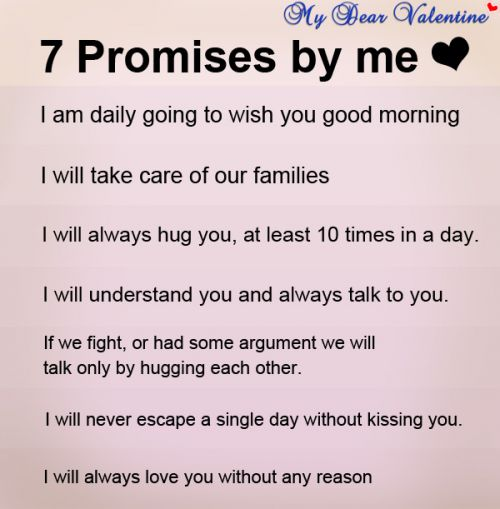 Love Quotes For Husband 7 promise be me i am daily going to wish you