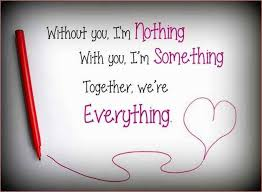 Love Quotes For Husband without you I'm nothing with you
