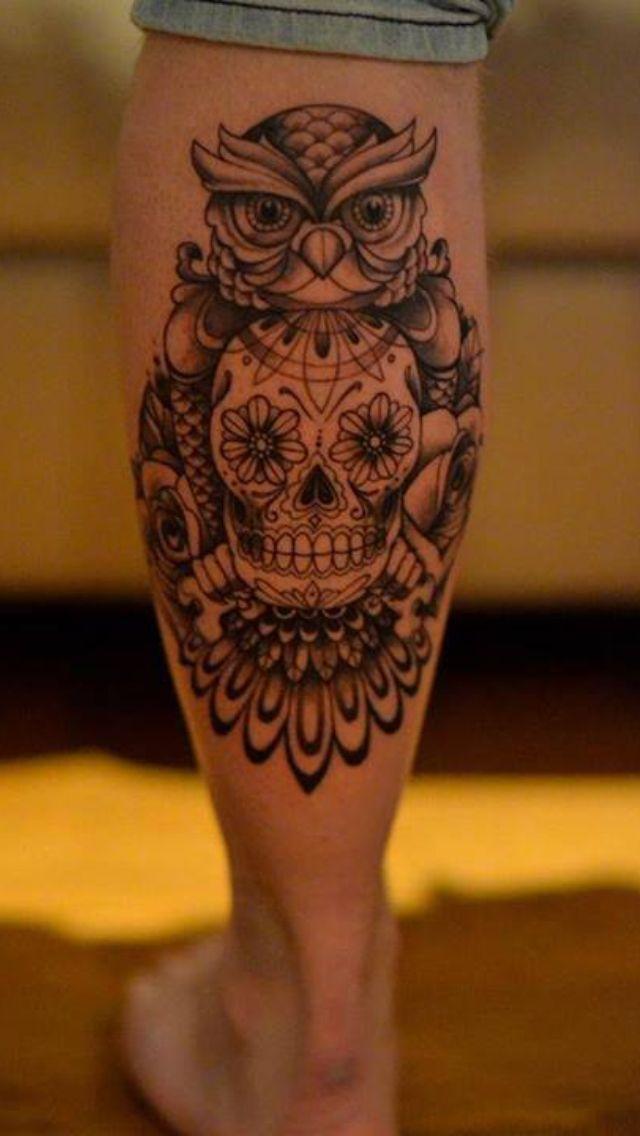 Maori Calf Tattoos On leg for Men