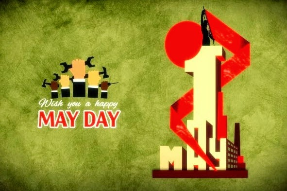 May Day Wish You Happy Labour Day Holiday Image