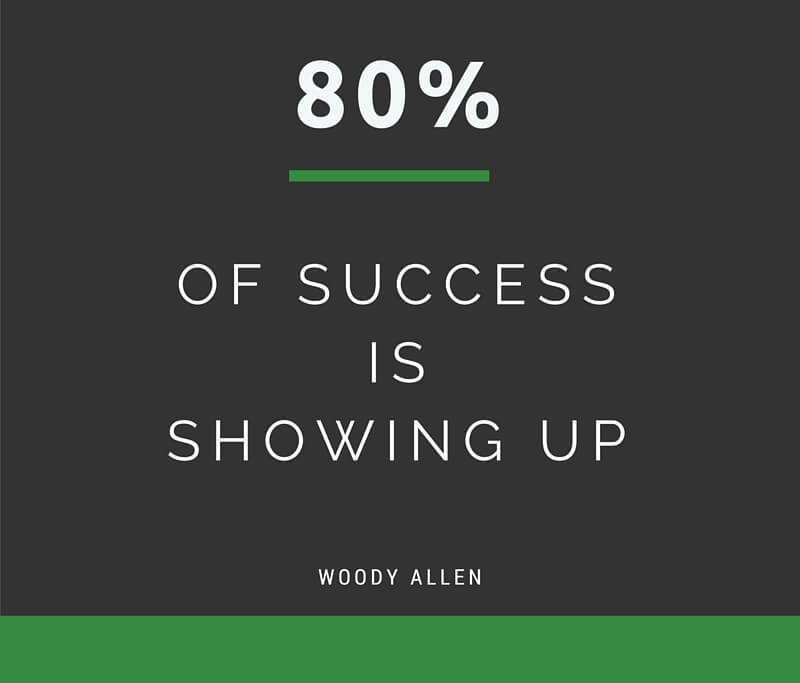 Motivational Love Quotes 80 fo success is showing up