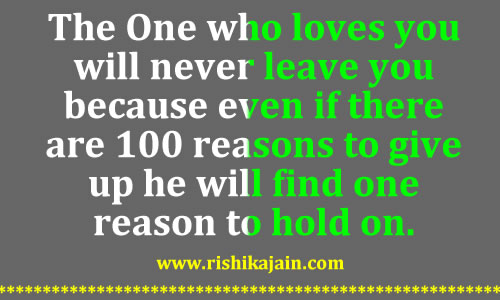 Motivational Love Quotes the one who loves you will never