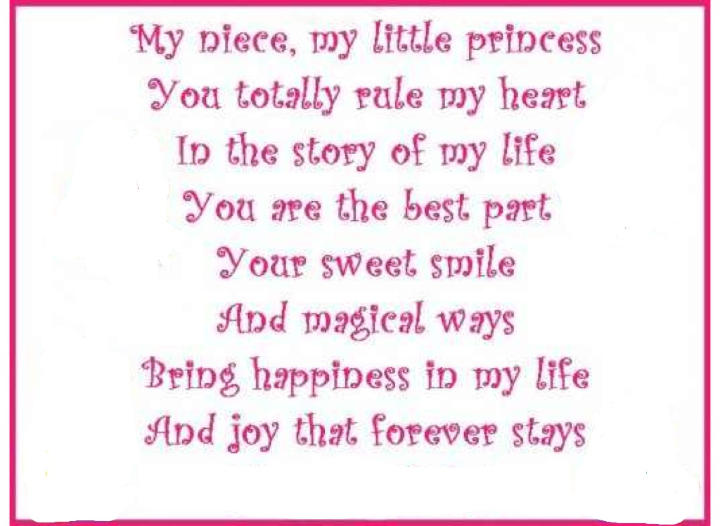Niece Quotes my niece my little princess you totally rule