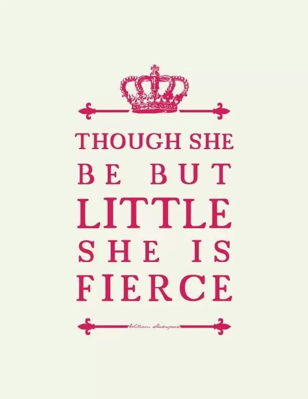 Niece Quotes though she be but little she is fierce