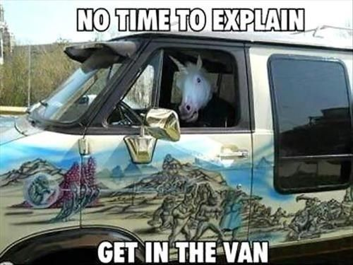 No time to explain get in the van Memes