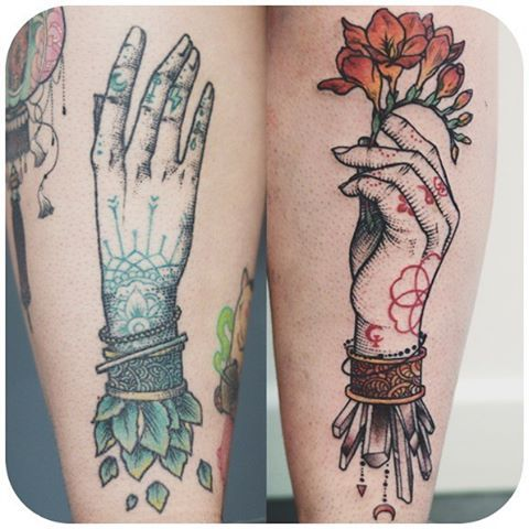 Phenomenon Calf Tattoos on thigh for women