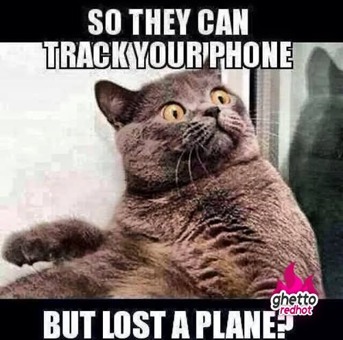 Plane Meme So they can track your phone but
