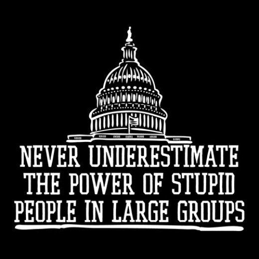 Political Quotes never underestimate the power of stupid people