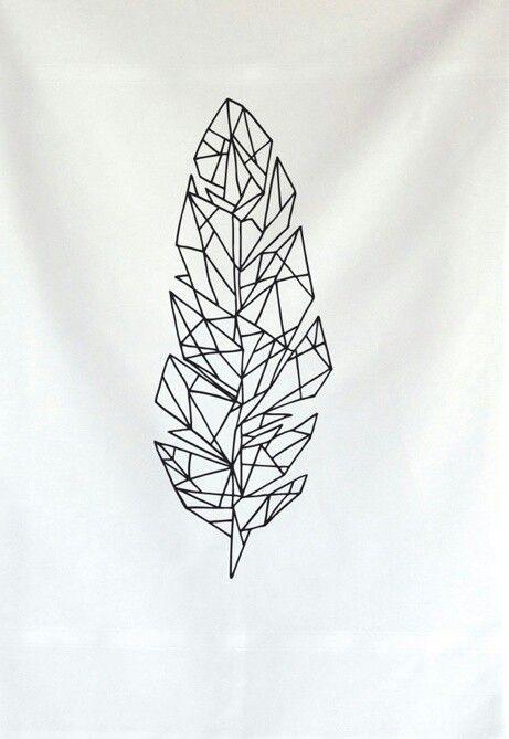 Popular Geometric Feather Tattoo for tattoo fan