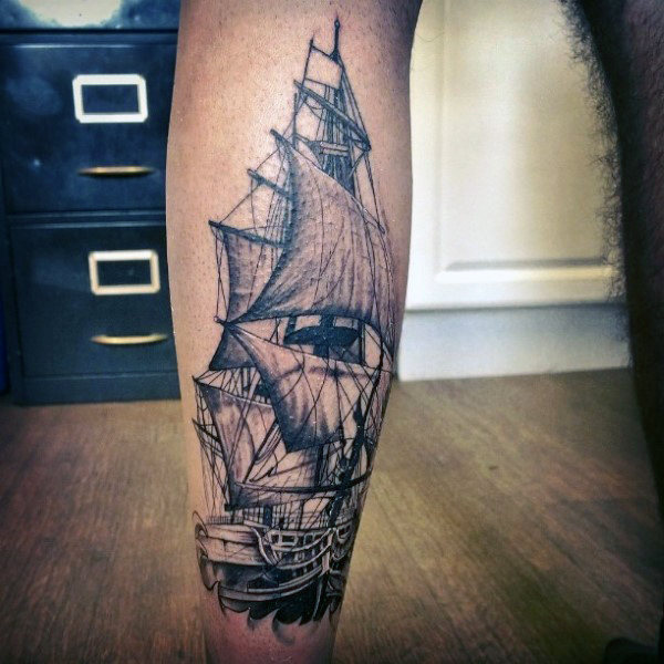 Realistic Calf Tattoos On leg for men