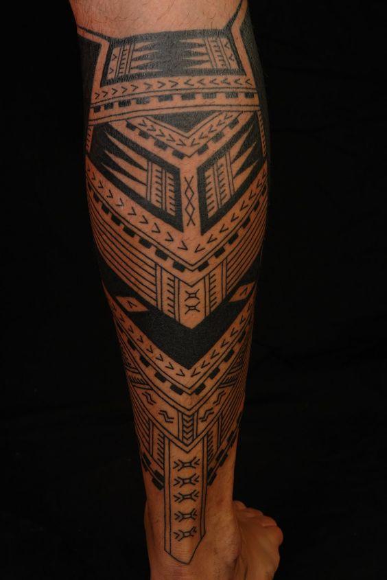 Sensation Calf Tattoos On leg for men