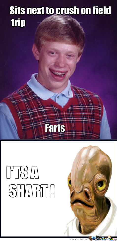 Shart Meme Sits next to crush on