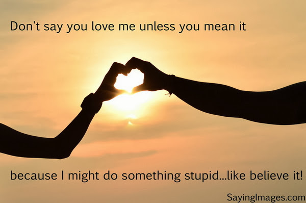 Short Love Quotes don't say you love me unless you mean