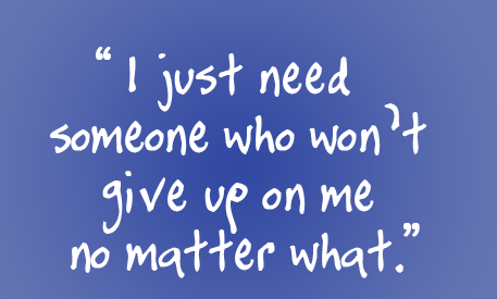 Short Love Quotes i just need someone who won't give up on me