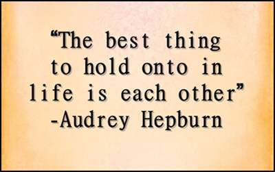 Short Love Quotes the best thing to hold onto in life is