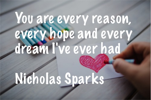 Short Love Quotes you are every reason every hope and every