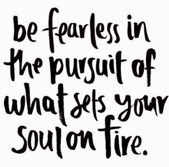 Success Quotes Be fearless in the pursuit of what sets your solon fire