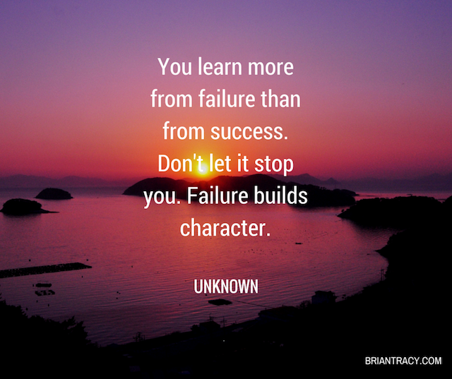 Success Quotes You learn more from failure than from success don't let it stop you