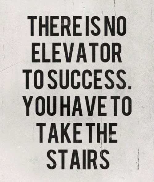 Success Quotes there is no elevator to success you have to take the stairs