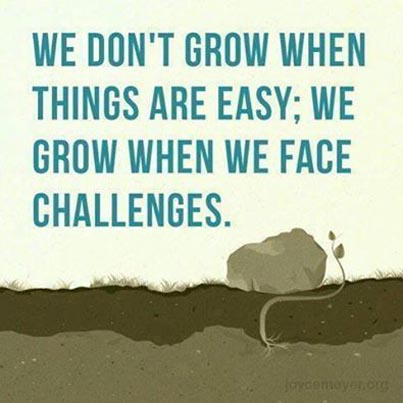 Success Quotes we don't grow when things are easy we grow