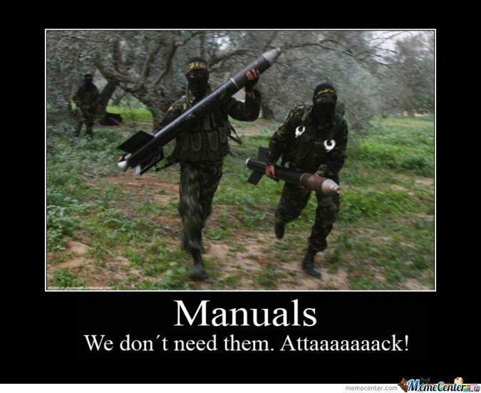 Terrorists Meme Manuals we don't need them attaaaaack