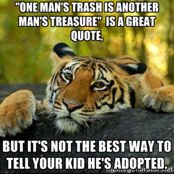 Tiger Meme One man's trash is another man's treasure
