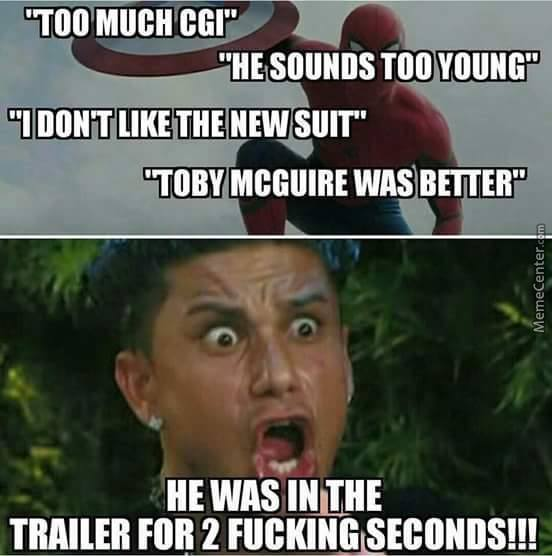 Too much cgi he sounds too young War Meme
