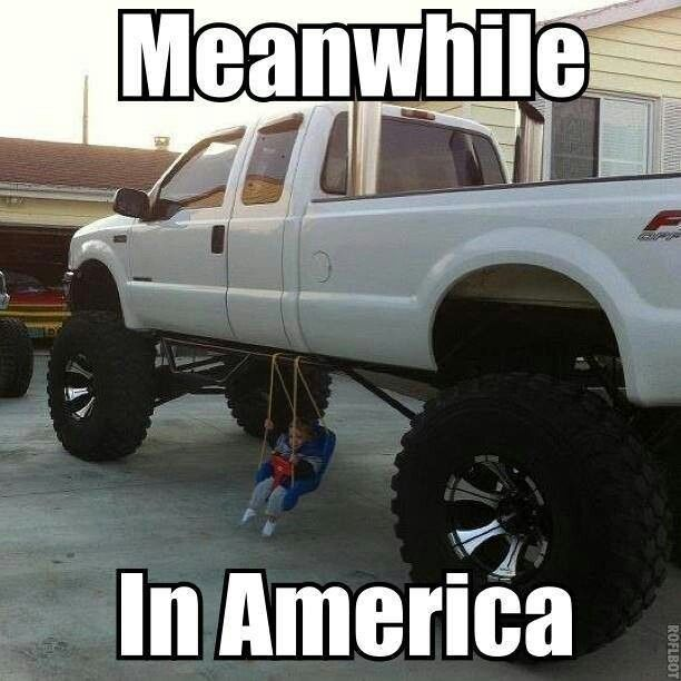 Truck Memes Meanwhile in america
