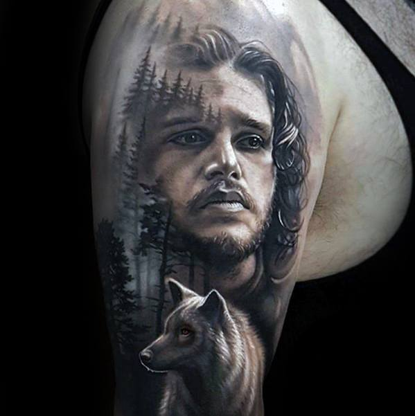 True Game Of Thrones Tattoos On shoulder For guy