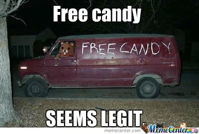 Van Memes Free candy seems legit