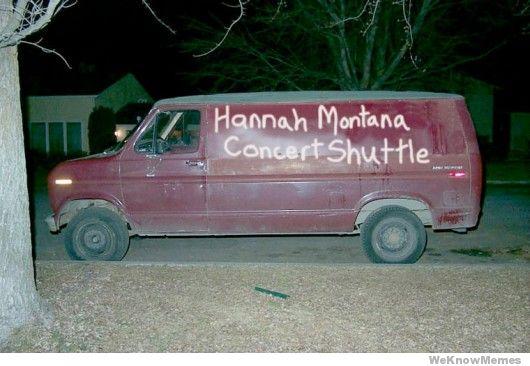 Van Memes Hannah mantana concert shuttle