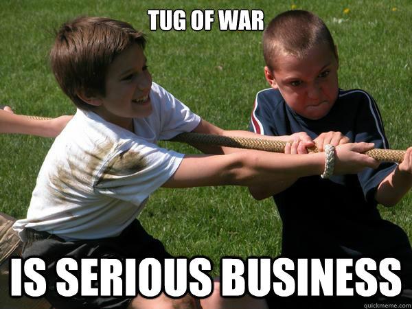 War Meme Tug of war is serious business