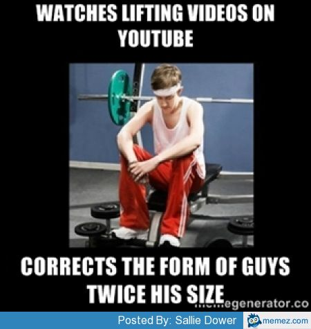 Weightlifting Memes Watches Lifting Videos On Youtube