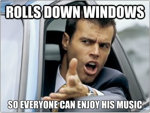 Weird Meme Rolls down window so everyone `