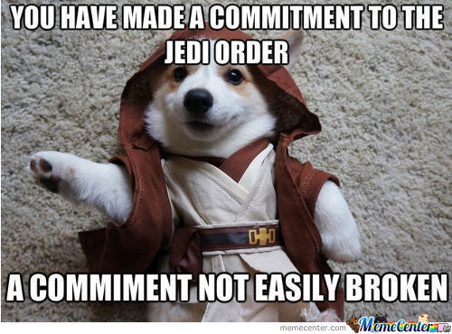 You have made a commitment to the Star War Memes