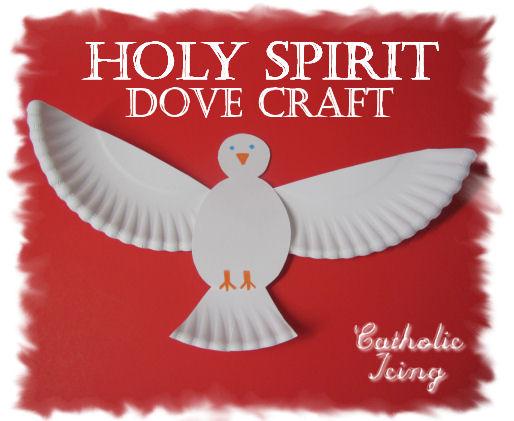 Holy Spirit Dove Craft Pentecost Catholic Greetings Image