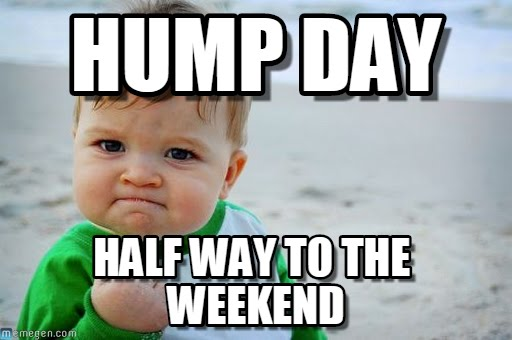 Hump day half way to the weekend Hump Day Meme