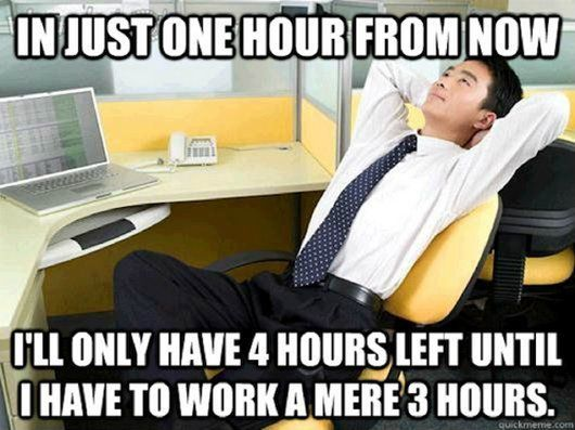 In just one hour from now Wednesday Work Meme