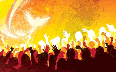 Pentecost Painting Wishes Message Image