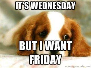 Wednesday Work Meme It's Wednesday but i want Friday