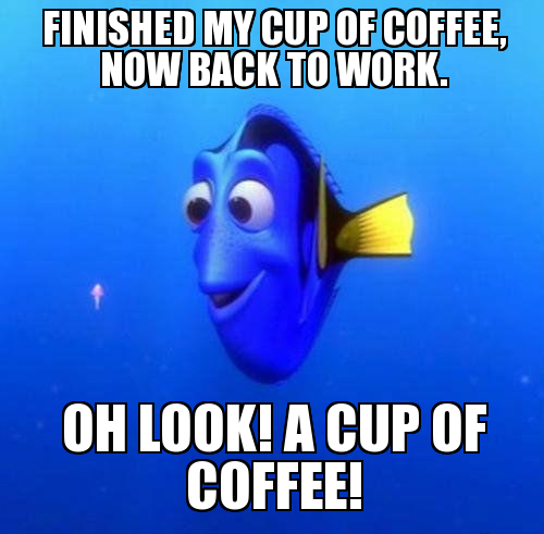 Wednesday Work Meme finished my cup of coffee, now back to work.