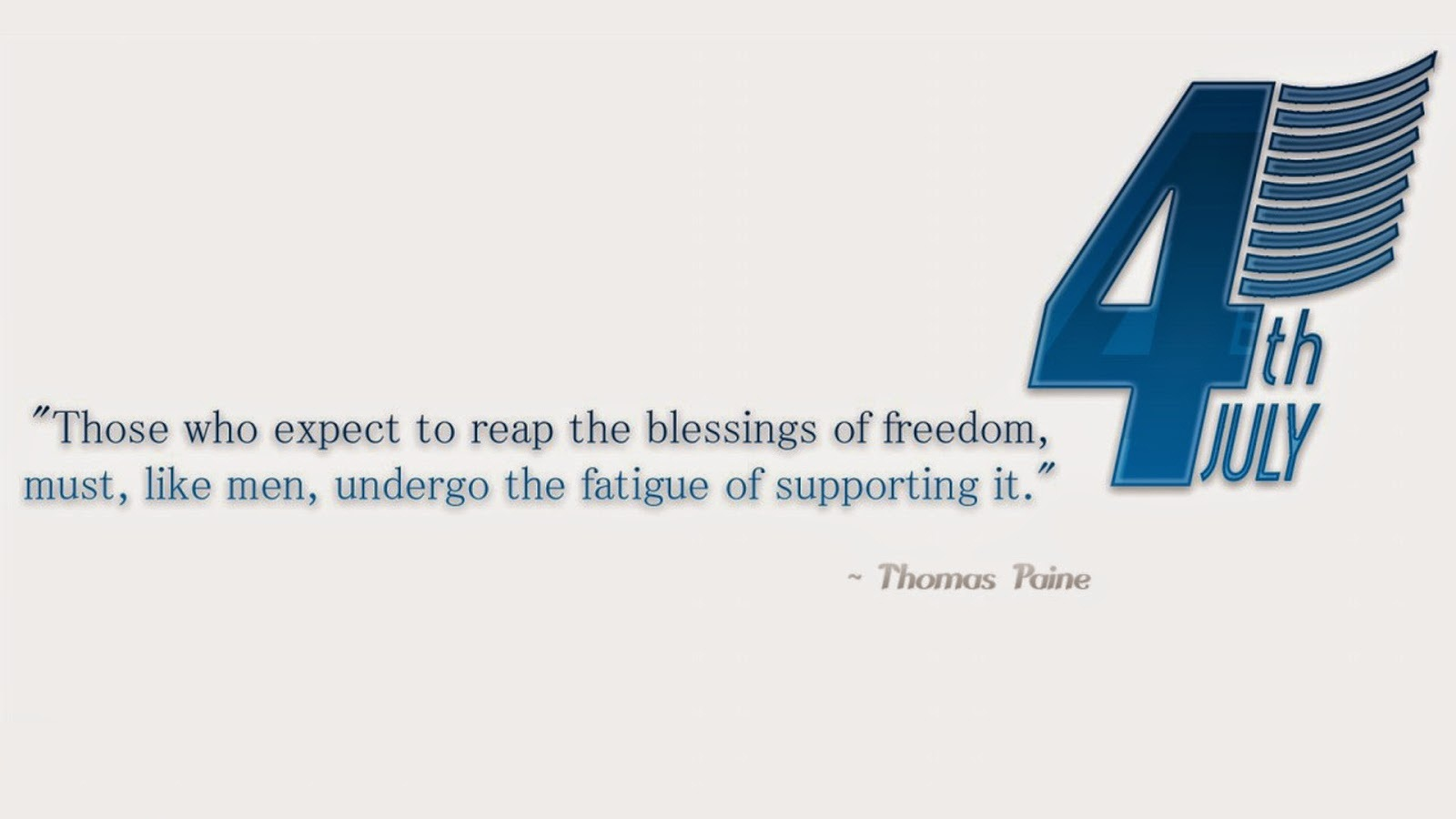 4th July Blessing Quotes By Thomos Poine Image