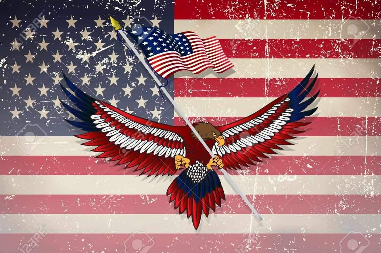 American Eagle Day Greetings Message And Wallpaper