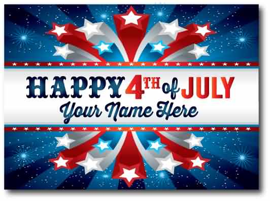 Best Wishes Happy 4th July Greetings Card Image