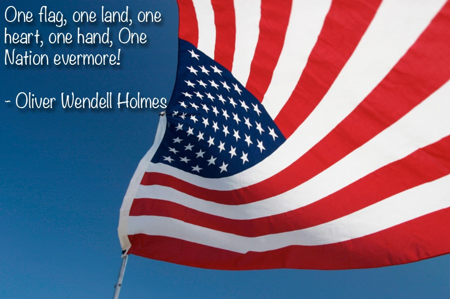 Best Wishes One Flag Greetings Quotes On 4th Of July Wishes Image