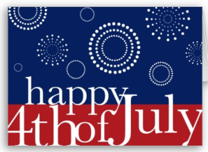 Celebrating 4th Of July Greetings Card Idea Image