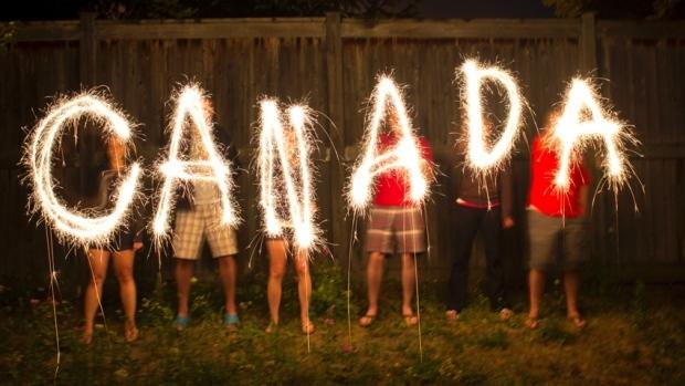 Celebrate Happy Canada Day Amazing Fireworks Wishes