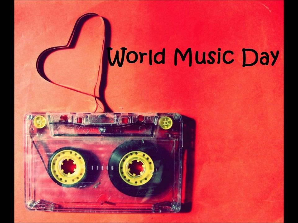 Enjoy Music Day Wishes Message Audio Cassette Wallpaper