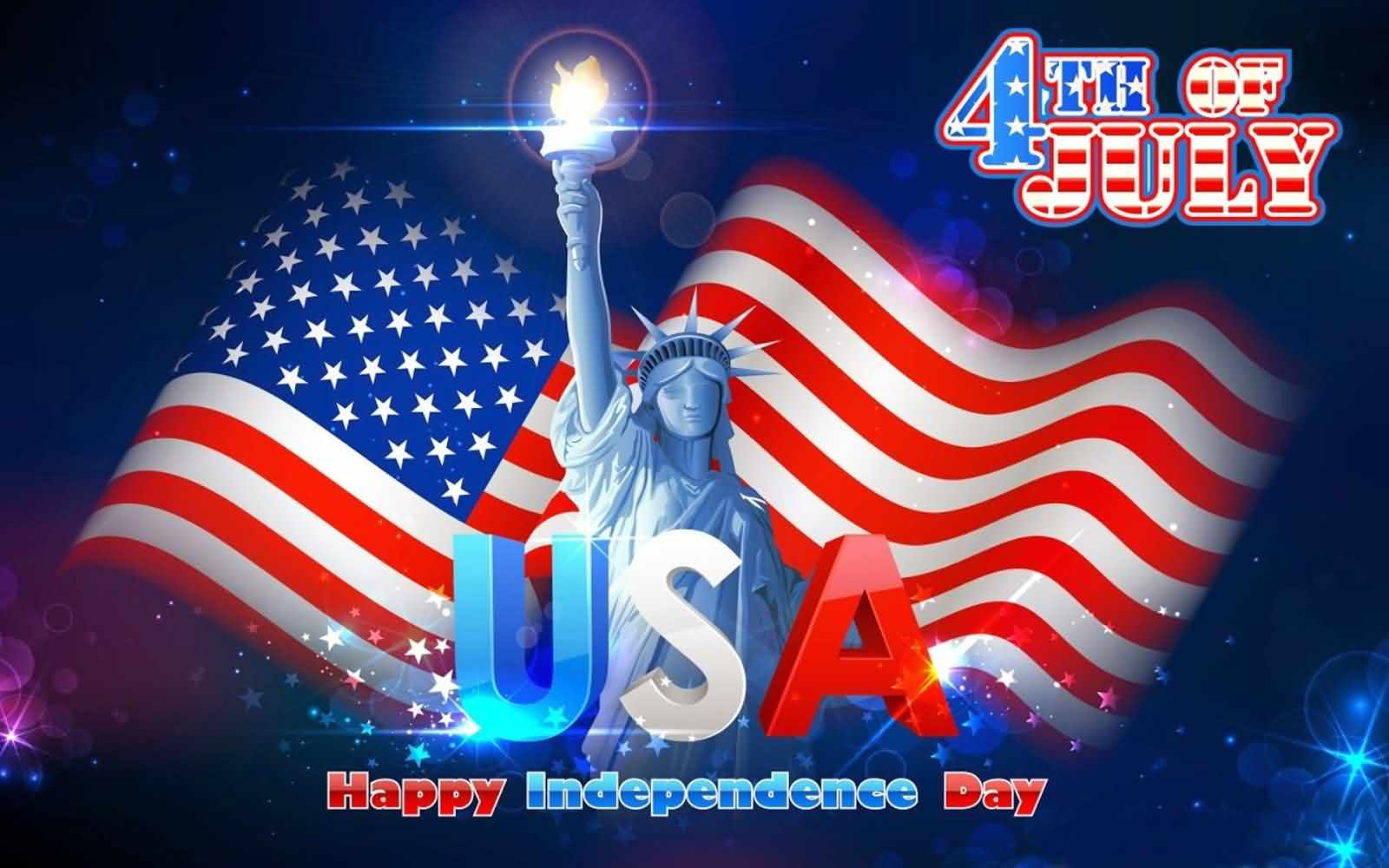 God Bless America Happy Independence Day 4th July Greetings and Wishes Wallpaper