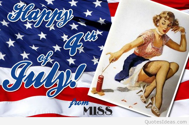Happy 4th Of July From Miss Best Wishes Card Image